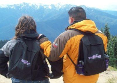 Healing Adventure: Couple overlooking the mountain